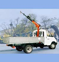 low-power crane manipulator set  RS1300A on GAZ 3302 chassis